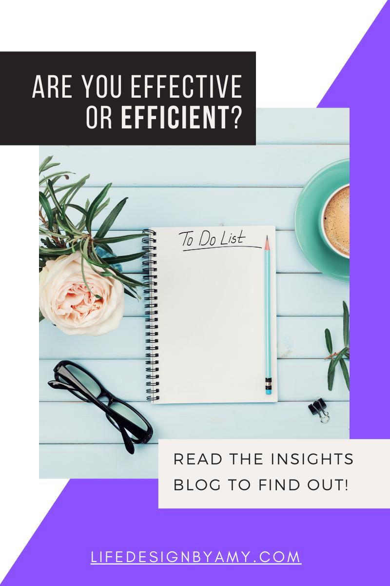 effective or efficient