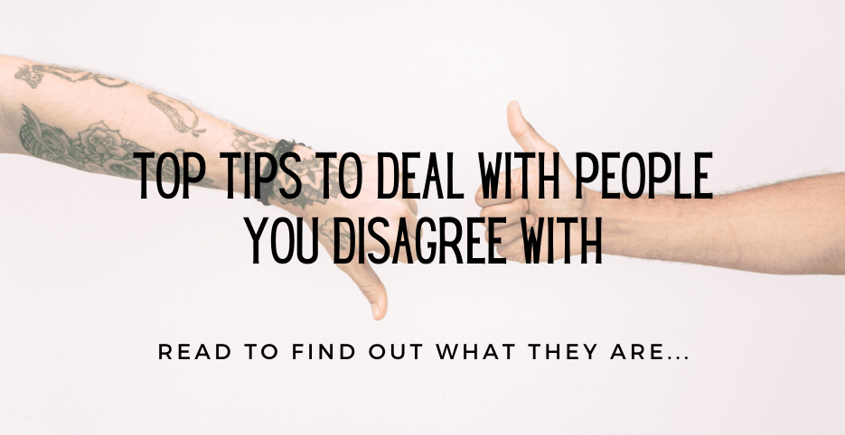 People you disagree with