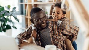 happy working parents