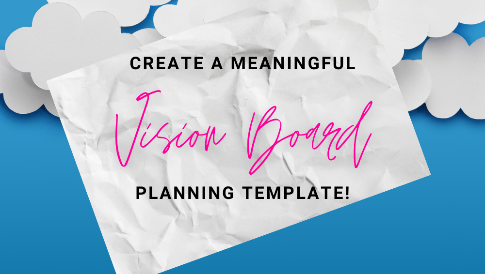 VISION BOARD template plan
