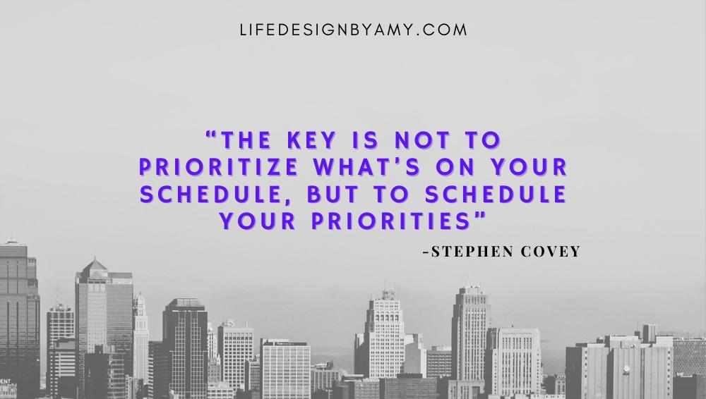 schedule priorities