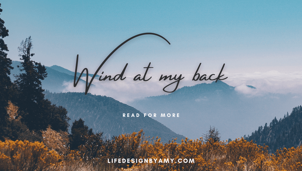 wind at my back